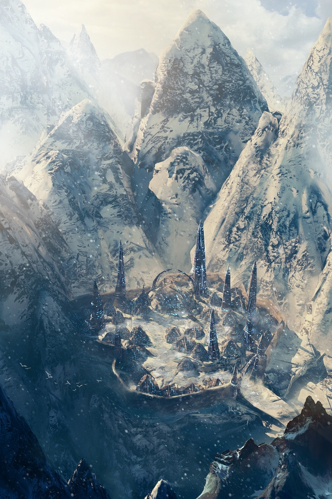 The mysterious and hidden yeti city was constructed by some strange and alien means, with tall crystalline towers of ice and giant seed pods of unknown origin. And yetis have proven less than eager to accept guests or discuss their architecture.