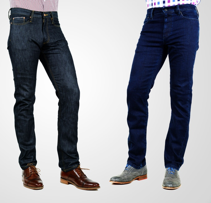 Styles as shown from left to right: Selvage, Studio Blue