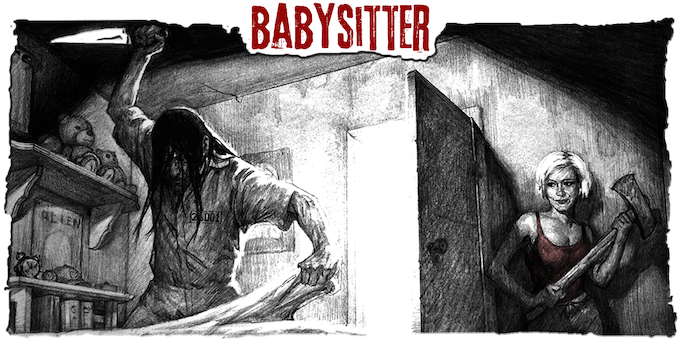 An escaped lunatic gets more than he bargained for when he messes with the WRONG babysitter.