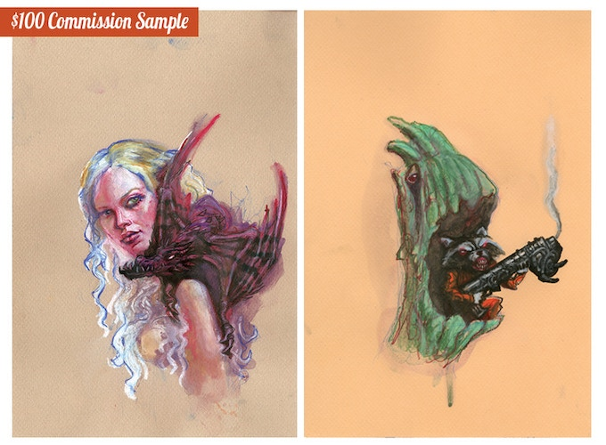 $100 Commission Samples Request any 2 Characters