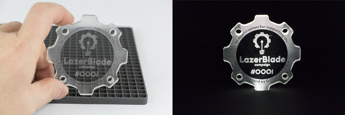 Proudly stand it on your desk or edge light for a cool effect.