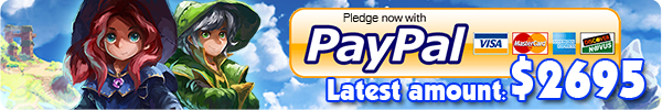 Pledge through Paypal