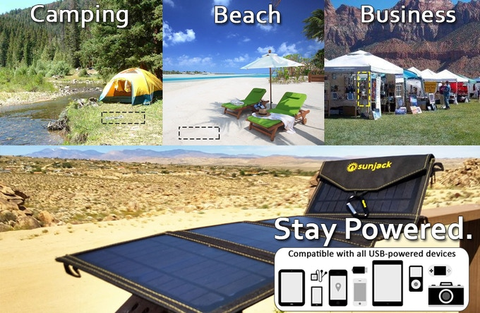Power all your adventures with up to 20 Watts of solar and 2A of output - SIZE MATTERS!