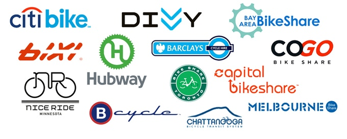Complete list of compatible bike share systems at bottom
