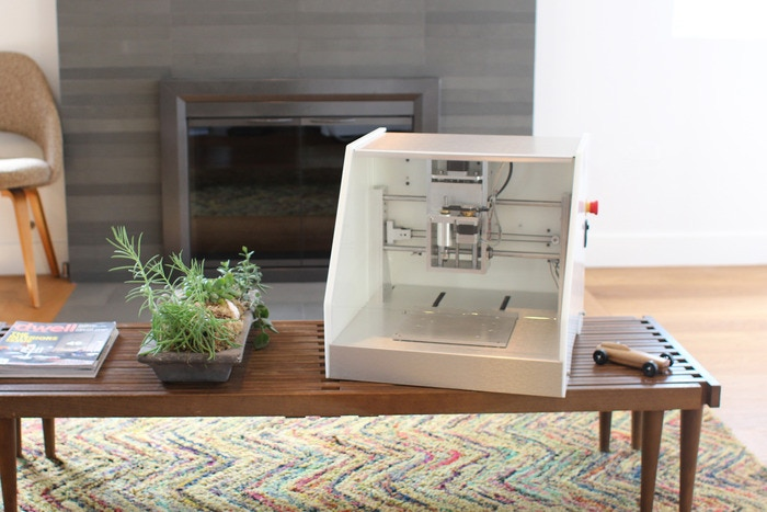 Nomad, a desk-sized CNC mill for cutting parts with precision.