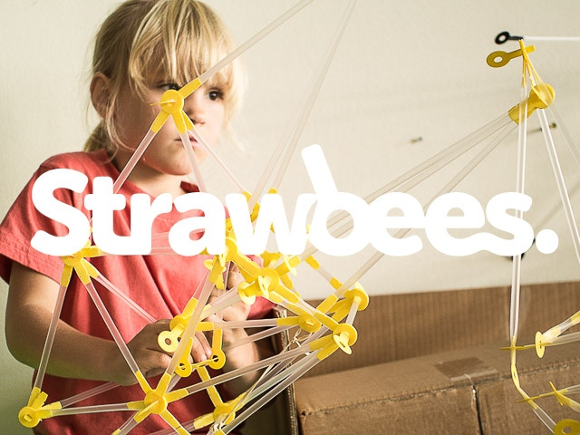 Strawbees, a prototyping toy for building things out of straws and cardboard.