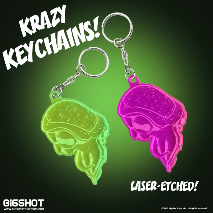 LASER-ETCHED KEYCHAIN: We have a very close relationship with the company that laser-etches these keychains. In fact, they've already provided a few samples so this reward is ready to print. Turnaround time is 3 weeks.