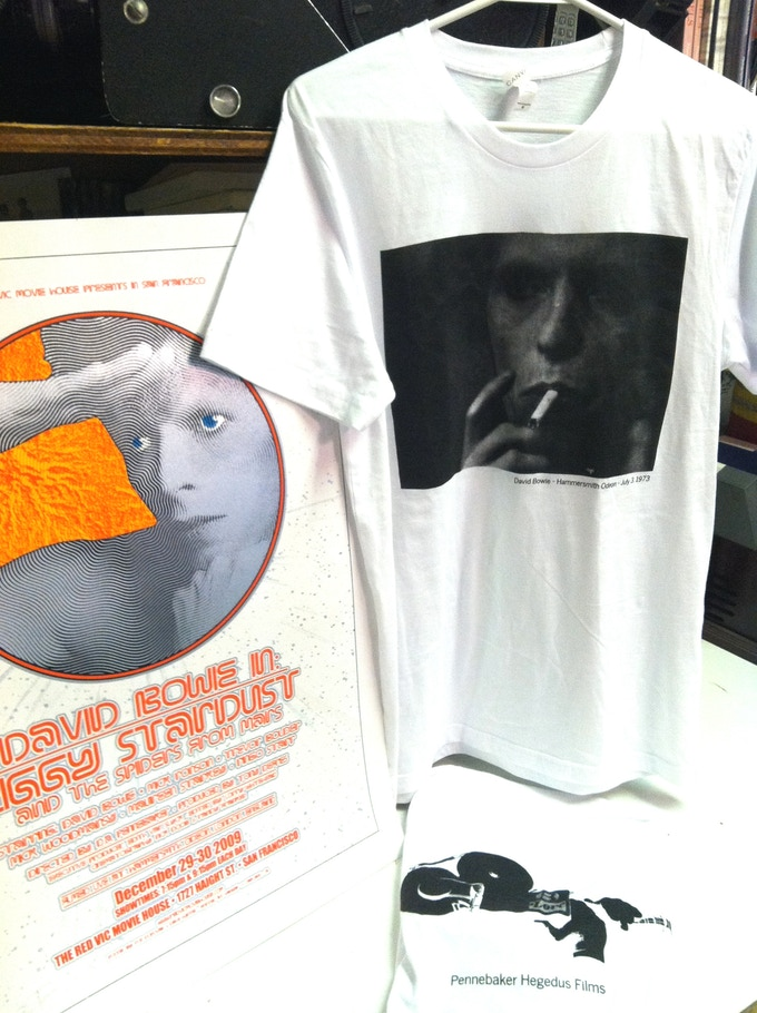 David Bowie ZIGGY STARDUST tshirt (made from an original negative from the film)