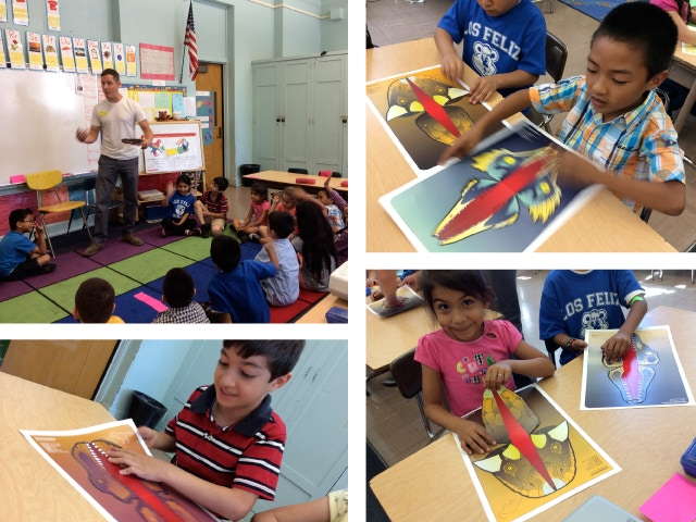 It was amazing to see the sincere interest, wonder and excitement the toys created with the students (ages 6 and 7).