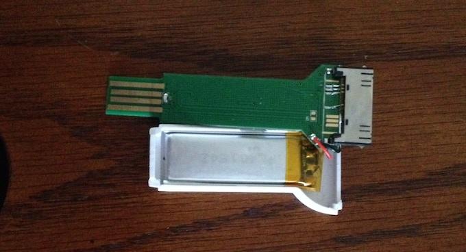 Open bKey showing reverse of PCB board
