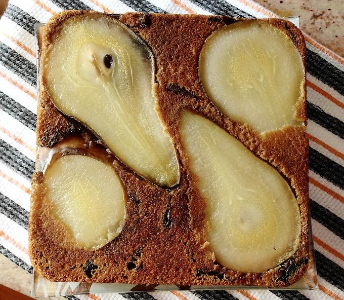 Pear, Date & Brandy Cake