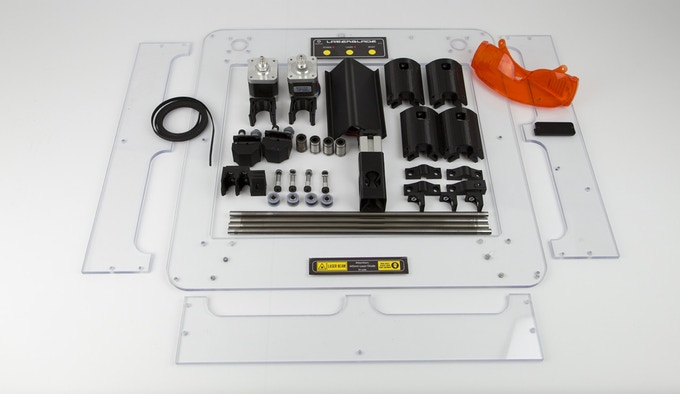 LazerBlade Kit components (not showing electronics boards)