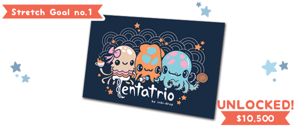 Goal reached! Tentatrio postcards are now included for all physical reward tiers ($12 & up)!