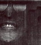 Partial view of Lennon's photostated face