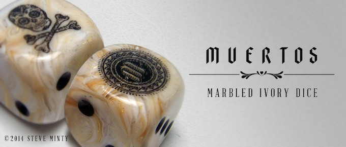 Now Available! Muertos Marbled Ivory Dice