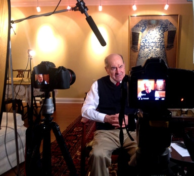 Dr. Heimlich during our 2013 interview