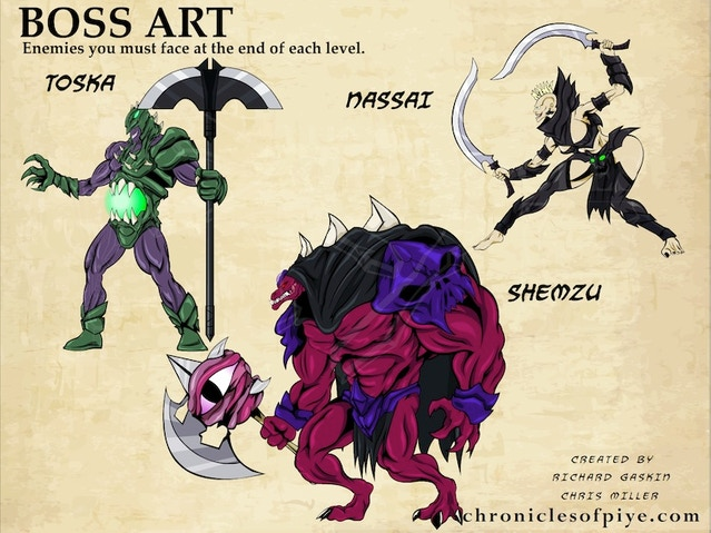 Boss enemies that you must fight at the end of each level.