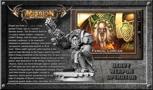 Fergal Lorcan - Heavy Weapon operator