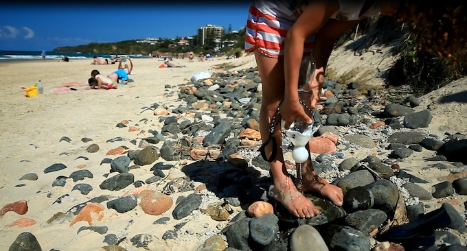 Wash away sand easily with a child friendly SpaTap