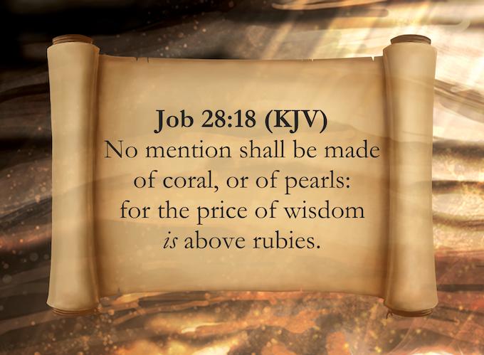 Job 28:18 (KJV)
