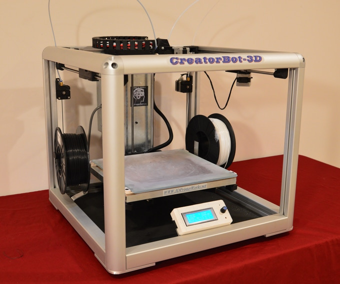 "CreatorBot-3D 2 Color Printer. With 12"" & 18"" Print"