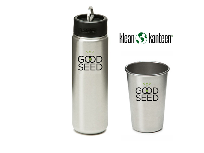 Klean Kanteen Water Bottle and Pint Cup