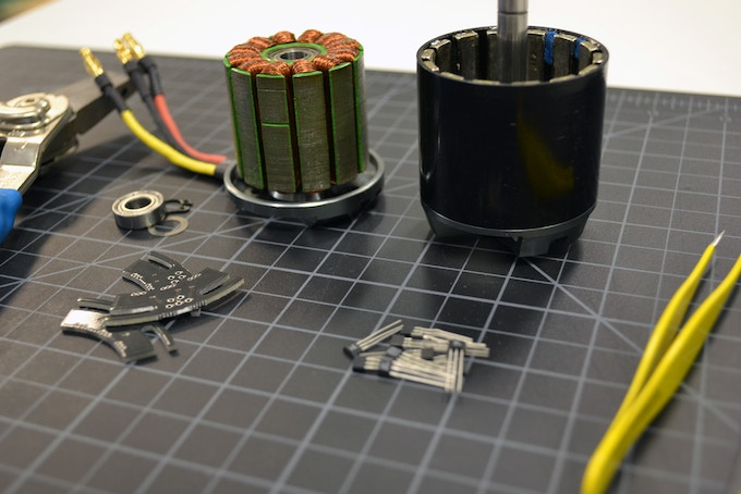 Modifying the DC Motor before Assembly