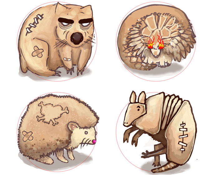 Initial Critter Concepts by Paul Summerfield