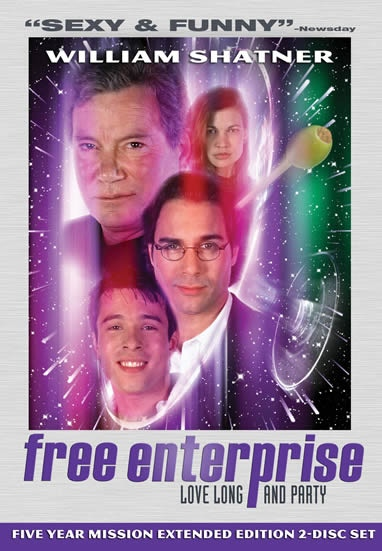 IT'S LIKE NOTHING WE'VE ENCOUNTERED BEFORE: The original FREE ENTERPRISE motion picture DVD starring ERIC McCORMACK, RAFER WEIGEL and WILLIAM SHATNER.