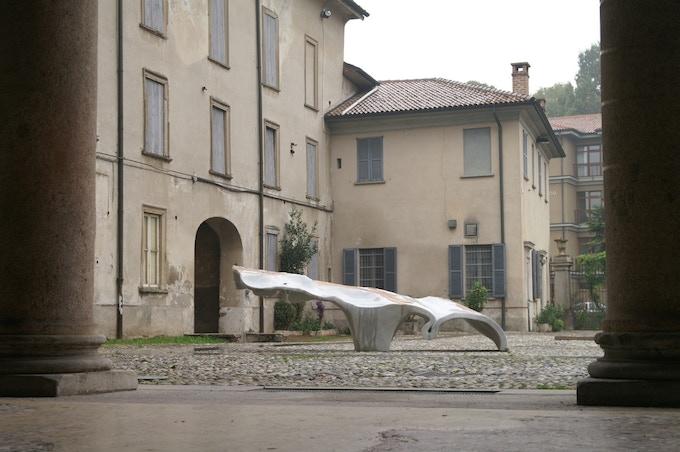 Glacier, 2008, Carrara marble, 13'/4m (Milan installation)