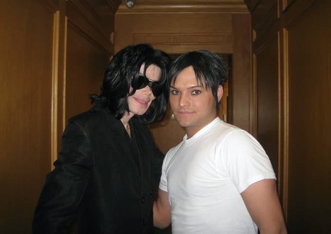 Michael Jackson and Pete Carter in Beverly Hills, CA - April 2009