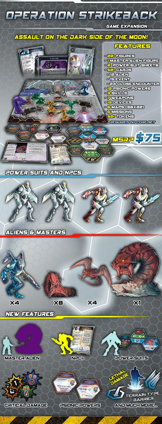Galaxy Defenders - The Earth Strikes Back! boardgame by Ares