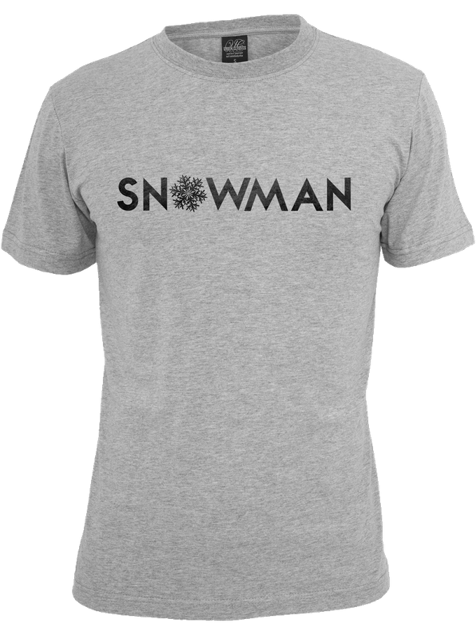 Snowman T-shirt with temporary design