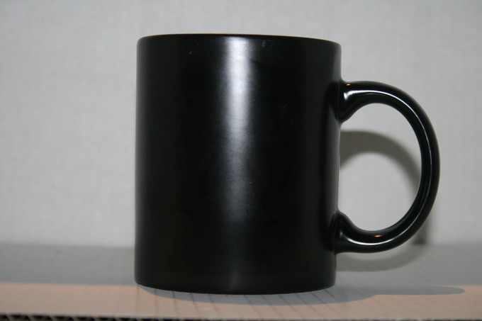 What the mug looks like when it is cold