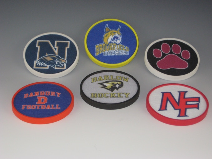 Here's what my area high schools' logos look like.