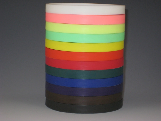 Color options for the base: white, pink, fluorescent yellow, fluorescent green, yellow, orange, red, green, blue, purple, brown and black.