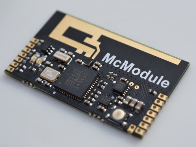 A McModule without the battery clip attached (they ship with the clip attached)