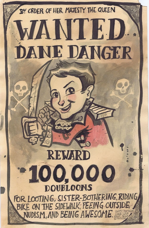 A sample wanted poster