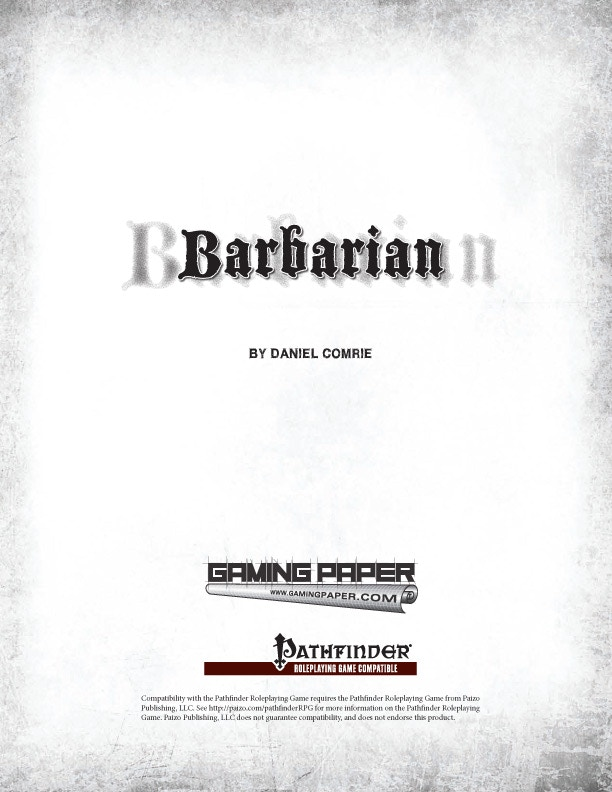 Barbarians - class book PDF only $4