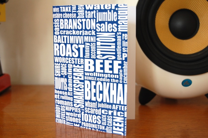 Typically British greetings card