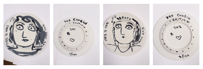 3rd Cousin Commemorative Plate Rewards being produced. © Toby Klayman 2014