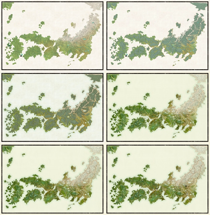 A progression of digital illustrations.