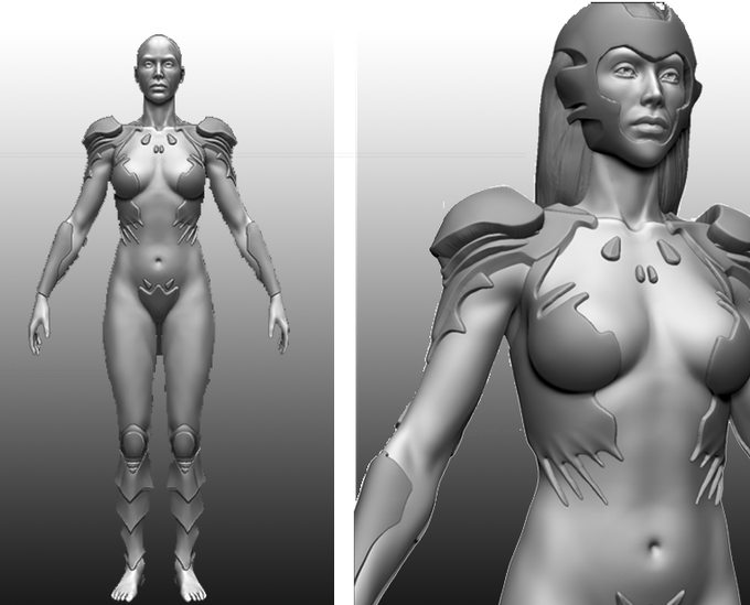 Vanguard 3D model WIP