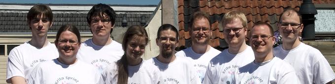Meet the Krita team: Steven, Stuart, Lukas, Wolthera, Timothee, Boud, Sven, Leinir and Dmitry.