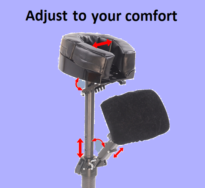 JQ headrest can be adjusted to fit your unique body shape