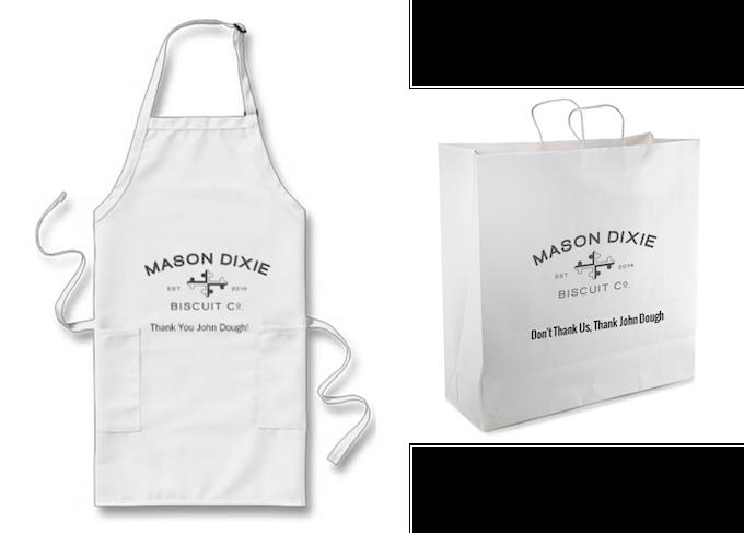 Sponsored Apron & To-Go Bags