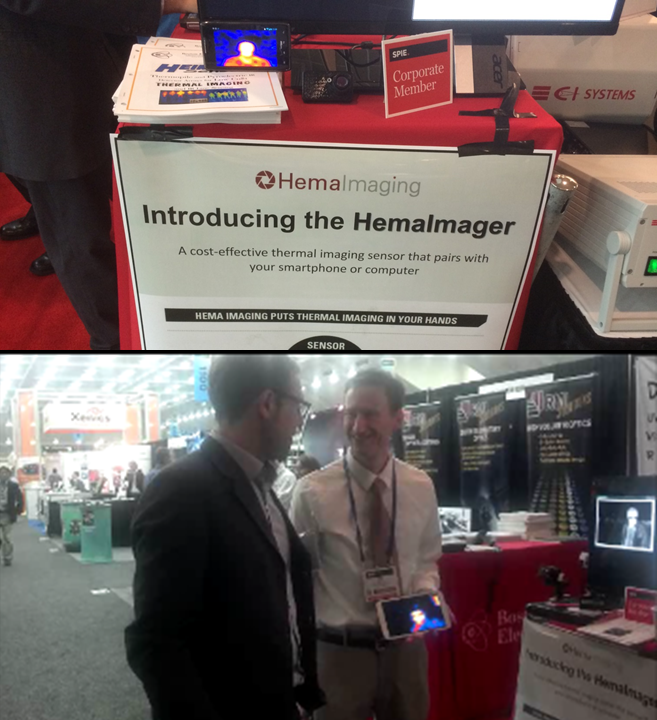At SPIE-DSS with Boston Electronics and Heimann Sensor