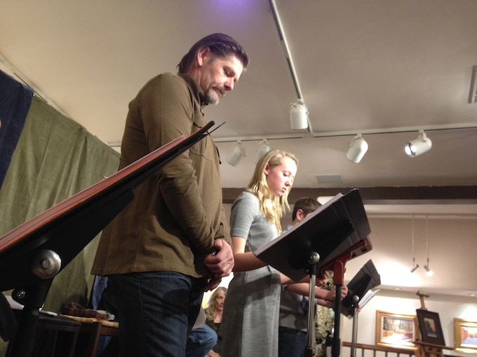 At the staged reading in Santa Fe
