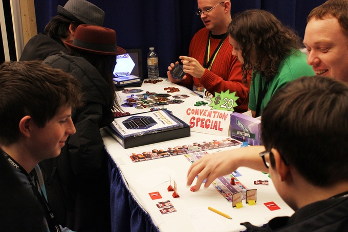 Brad and Justin showcasing their games at GottaCon 2014.