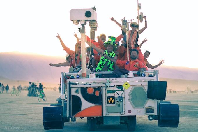 The Mars Rover Art Car